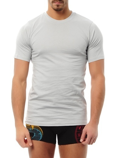 Goldenbay Erkek Pijama Pamuklu Üst Tek Üst Tshirt Gri